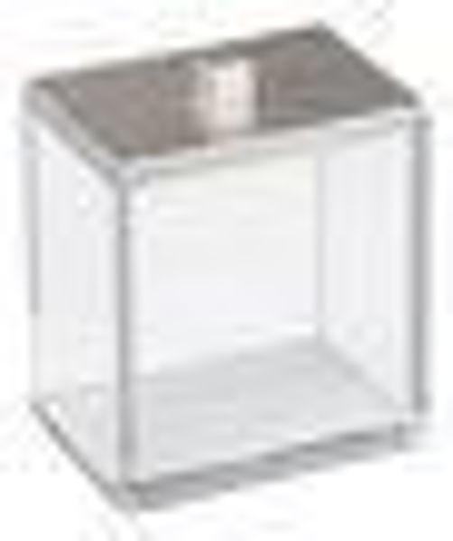 Picture of clear canister with/SIlver cover